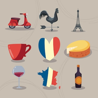 France set of icons