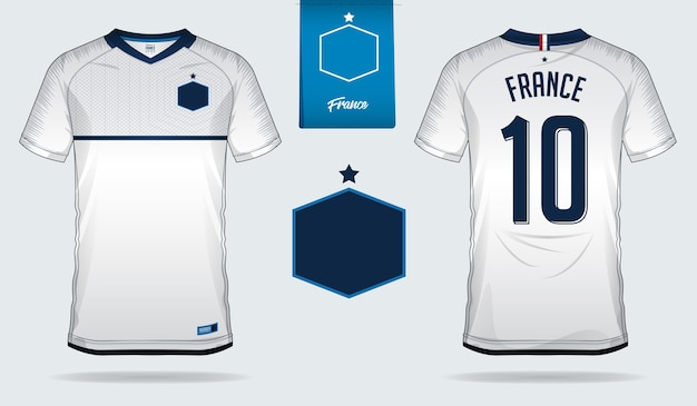 8bfb16987cf France soccer jersey or football kit template