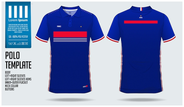 France team football polo shirt sport template