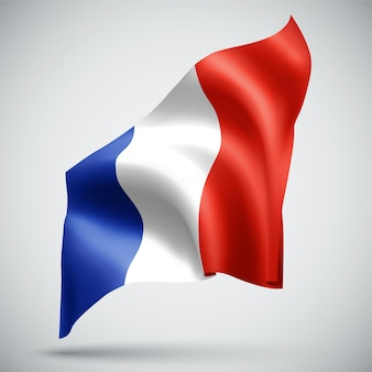 Франция, вектор 3d флаг, изолированные на белом фоне