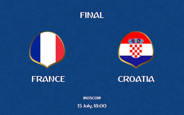 France vs croatia football scoreboard broadcast graphic soccer template
