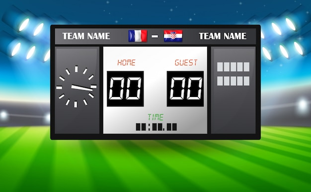France vs croatia scoreboard