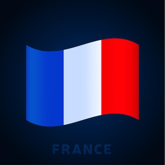France wave vector flag. waving national official colors and proportion of flag. vector illustration.