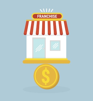 Franchise business icon flat design vector.