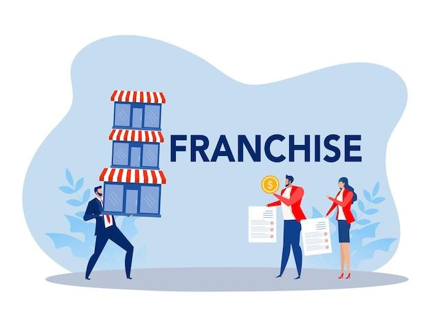 Franchise shop business start franchise small enterprise company