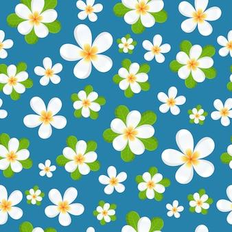 Frangipani flowers seamless pattern