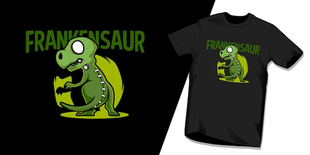 Frankensaur tshirt character design template