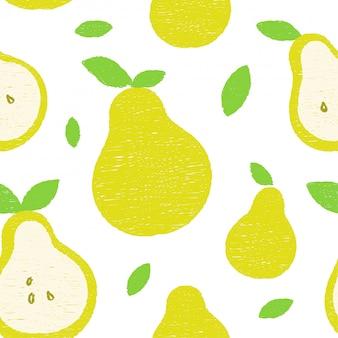 Frash pears modern beauty seamless pattern