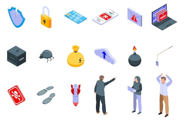 Fraud icons set