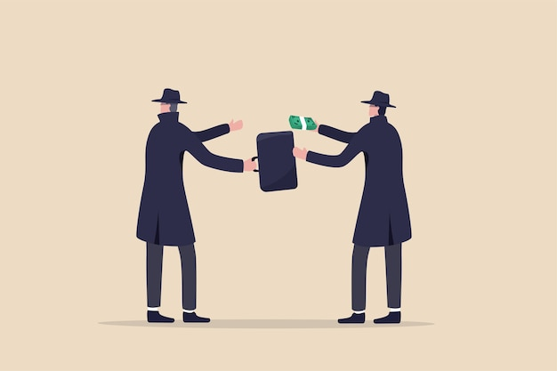 データを盗んでダークウェブで販売する不正なビジネス、賄賂、不正行為、汚職、またはハッカー