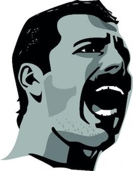 Freddie mercury head