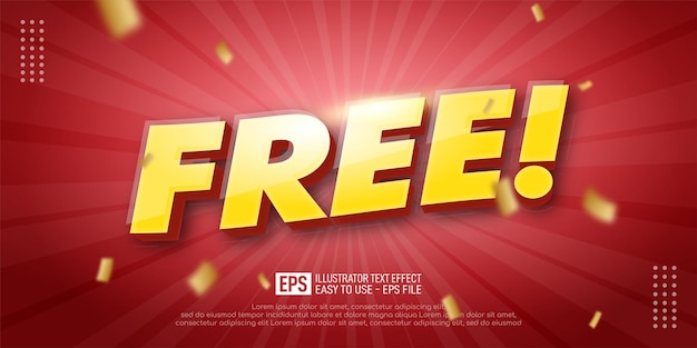 Free 3d text editable style effect template for banner promotion