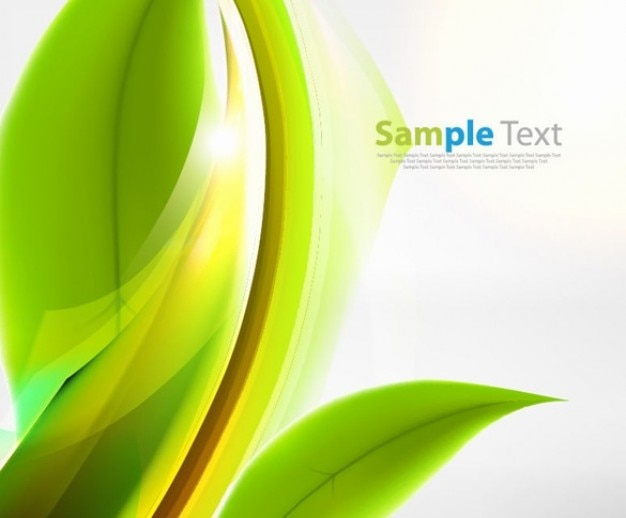 Free abstract green vector background