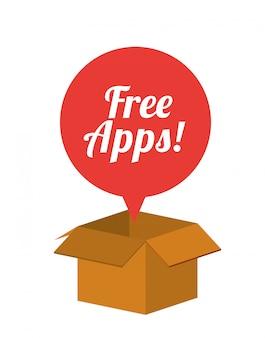 無料アプリのデザイン
