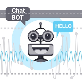 Free chat bot says hello