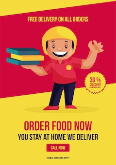 Free delivery on all orders flyer and poster design