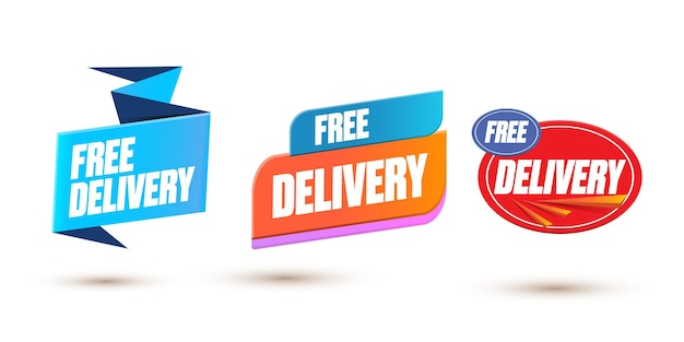Free delivery banner design template