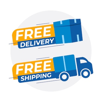 Free delivery free shipping vector template
