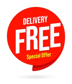 Free delivery icon template vector sign
