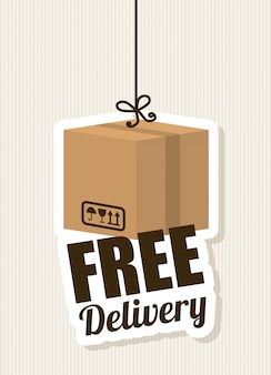 Free delivery illuistration