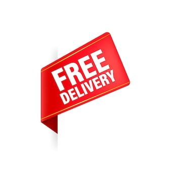 Free delivery red ribbon