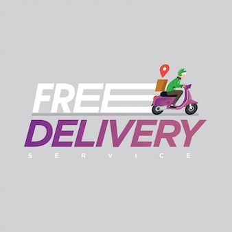 Free delivery service concept illustration