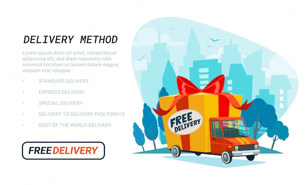 Free delivery template.