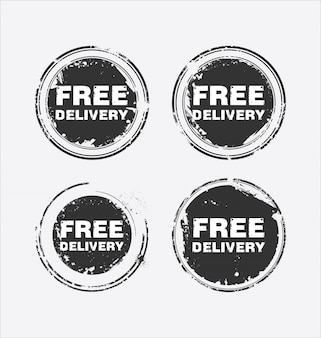 Free delivery vector stamp