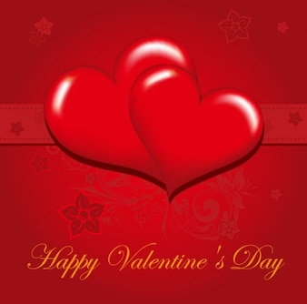 Free happy valentine's day greeting card vector illustration