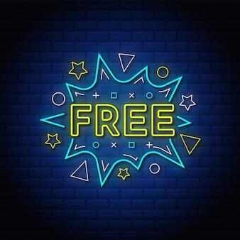 Стиль текста бесплатных рекламных знаков с синей кирпичной стеной.