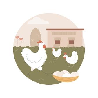 Свободный запуск курицы и яйца иллюстрации