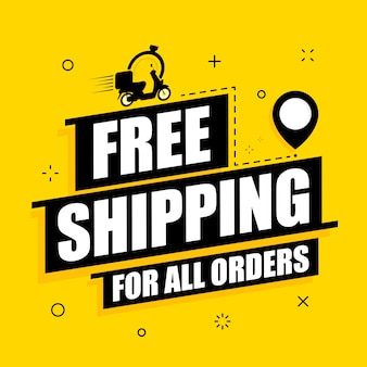 Free shipping on all orders text banner