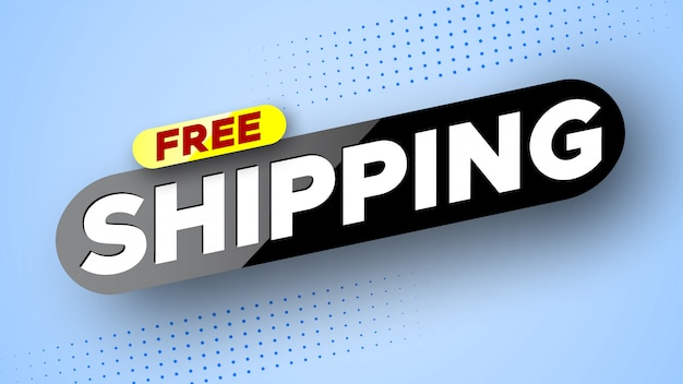 Free shipping banner template
