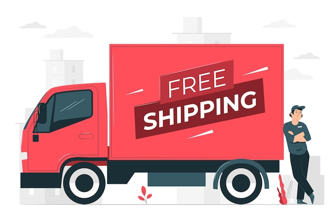 Free shipping concept illustration