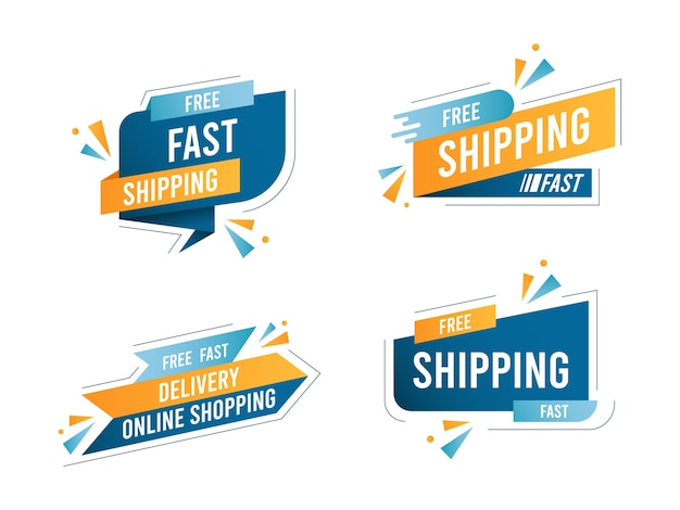 Free shipping delivery banner collection