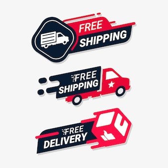 Free shipping delivery service logo badge