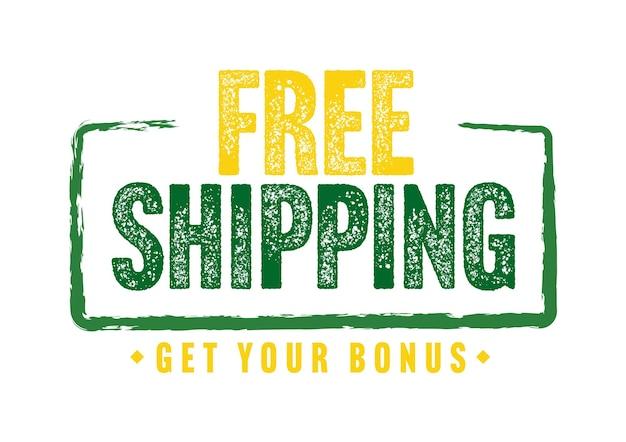 Free shipping get your bonus grunge sticker design