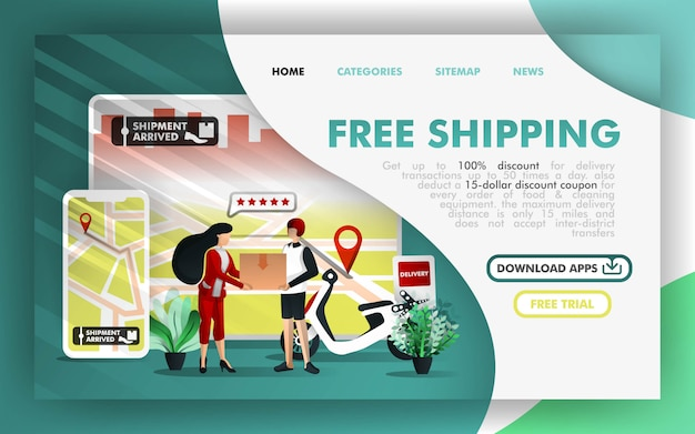 Free shipping online business