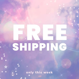 Free shipping promotion template vector for social media post