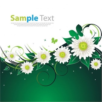 Free spring flower green background