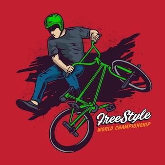 Free style bmx jump high