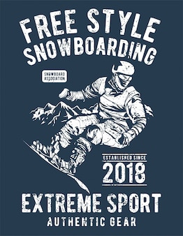 Free style snowboarding