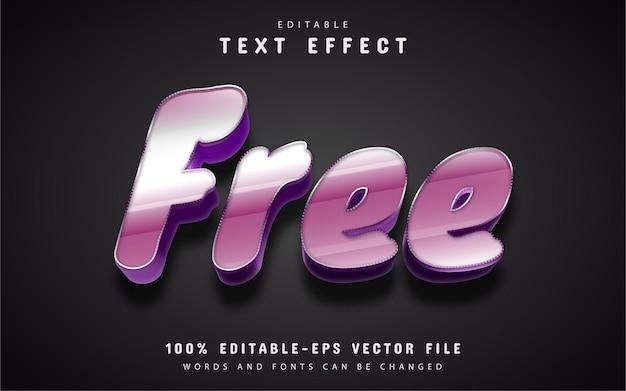 Free text, editable 3d text effect