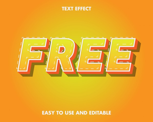 Free text effect. editable text effect and easy to use. premium vector illustration