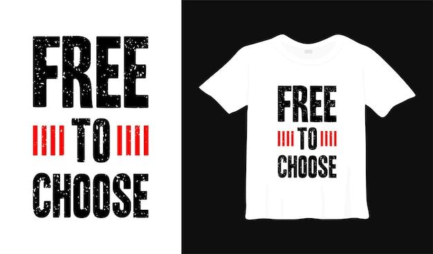 Свободный выбор типографики дизайн футболки