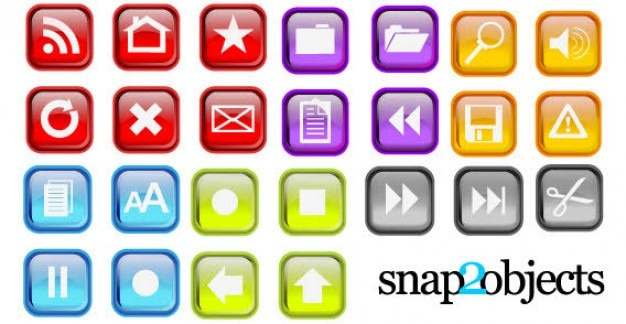 Free vector colorful icons