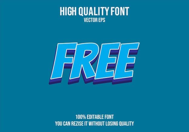 Бесплатный векторный эффект шрифта текста