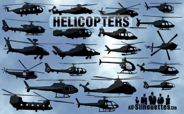 Free vector helicopters