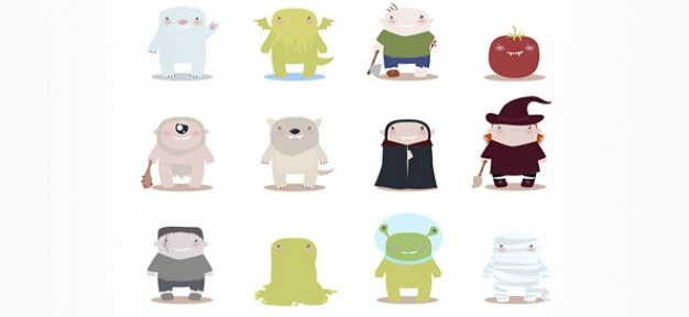 Free vector monster mascots