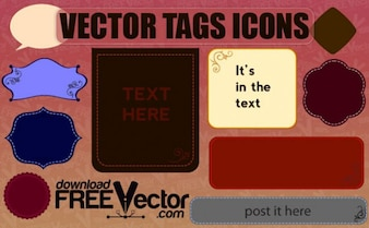 Free Vector of Tags Icons